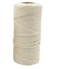 Beige 4mm Macramé Wire and Rope: 100m roll